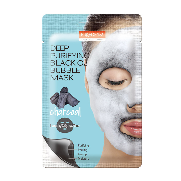 70. ADS 370 Deep Purifying Black O2 Bubble Mask Charcoal
