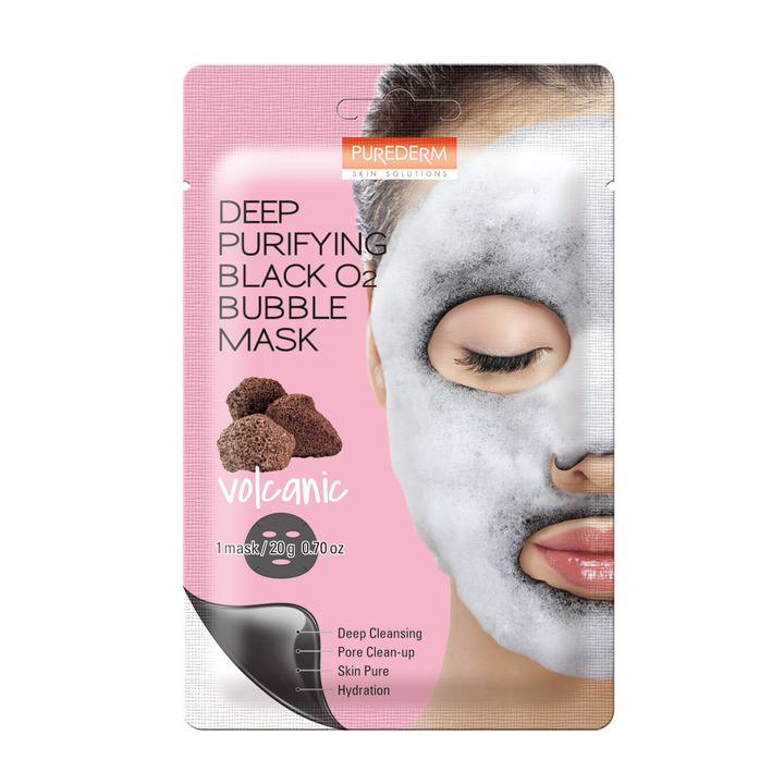 71. ADS 371 Deep Purifying Black O2 Bubble Mask Volcanic